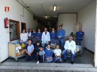 Entrega de comida y productos de aseo personal a la Ciudad San Juan de Dios