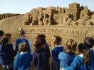 4 años. Visita al belén de arena de Las Canteras.