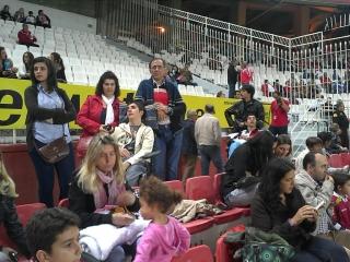 LOS PACIENTES DE C.RE.CER. INVITADOS POR EL SEVILLA FC AL PARTIDO SEVILLA-MALLORCA CON MOTIVO DEL DIA NACIONAL DEL DAÑO CEREBRAL