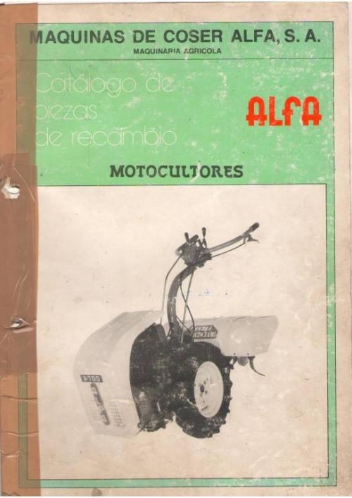 Despiece motocultores ALFA