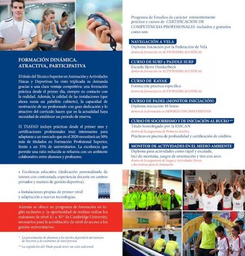 Ciclos Formativos y Cursos de Especialización Profesional