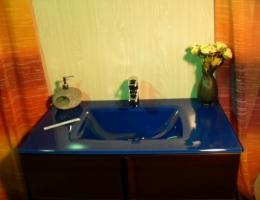 Lavabo de cristal Cobalto Fuerte