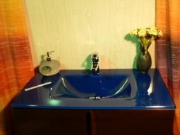 Lavabo de cristal Cobalto Suave