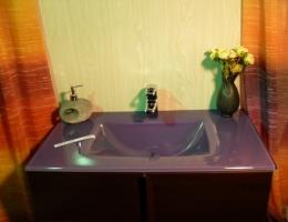 Lavabo de cristal Morado