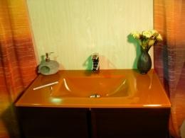 Lavabo de cristal Naranja Suave