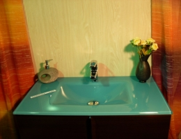 Lavabo de cristal Turquesa Suave