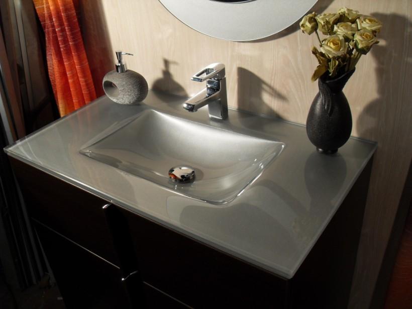 Lavabos Para Baño Para Empotrar:Lavabo De Cristal Para Bano Con Espejo Y Mueble Vendo Este Lavabo De