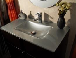 Lavabo de cristal Plata Optico