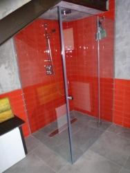 Mampara de cristal para una ducha