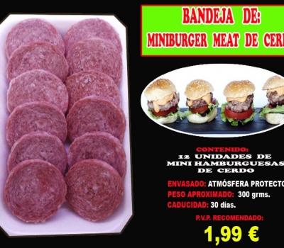 MINIBURGER MEAT DE CERDO