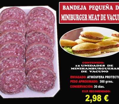 MINIBURGER MEAT VACUNO