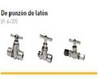 VALVULAS DE PUNZON LATON