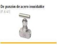 VALVULAS DE PUNZON INOX