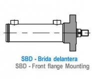 CILINDRO ISO 3320 - BRIDA DELANTERA - SBD
