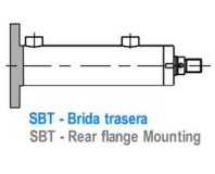 CILINDRO ISO 3320 - BRIDA TRASERA - SBT