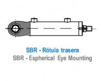 CILINDRO ISO 3220 - CHARNELA ROTULA TRASERA - SBR
