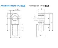 ISO 3320 ACCESORIOS : ARRASTRADOR MACHO - HCM