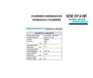 CILINDRO HIDRAULICO ISO 6020 2 VERSION MAGNETICA