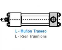 CILINDRO HIDRAULICO ISO 6020 2 MUÑON TRASERO L