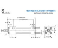 CILINDRO HIDRAULICO ISO 6020 2 TIRANTES PROLONGADOS TRASEROS  S