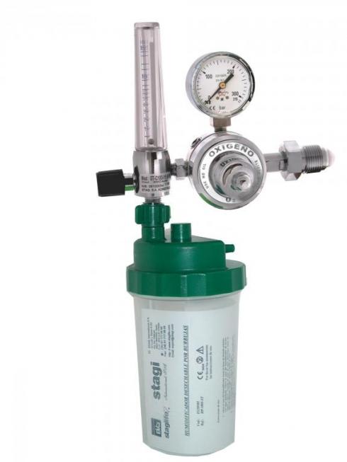 Caudalímetro con humidificador