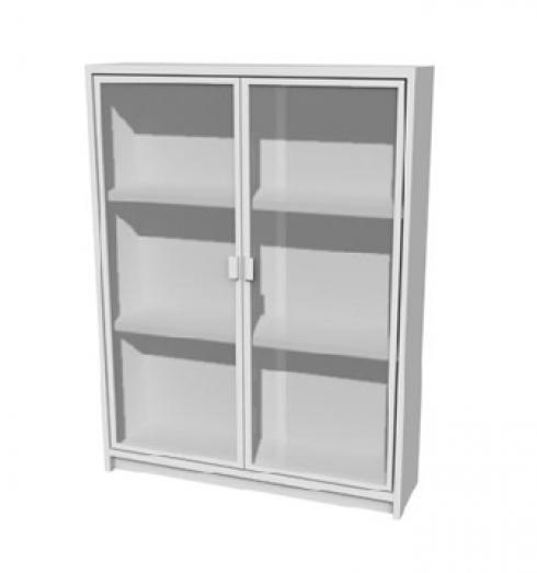 Armario con puertas de cristal