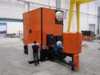 Instalación caldera D´ALESSANDRO TERMOMECCANICA en lavandería