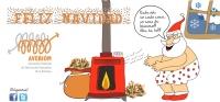 Este año en cada casa, un saco de biomasa. Feliz Navidad os desea AVEBIOM