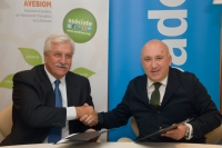Firma del convenio banco sabadell y avebiom para financiacion de proyectos de biomasa