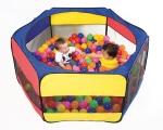 piscina de bolas, piscina nylon. piscina sensorial, piscina psicomotricidad