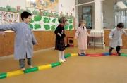 pasillo semicilindrico curvo, pasillo equilibrio, pasillo semicilindrico