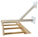 soportes escalera horizontal, soporte escalera trepa, soporte escalera