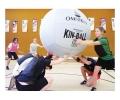 kinball, kin-ball, peloton flotante