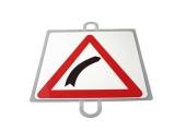 señal educacion vial, panel señalizacion trafico, señal trafico curva derecha