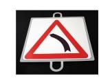 señal educacion vial, panel señalizacion trafico, señal trafico curva izquierda