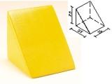 triangulo foam recubierto, triangulo foam, prisma triangular foam