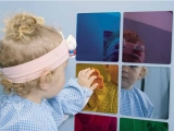 espejo guarderia, espejo cuadrado colores, espejo infantil