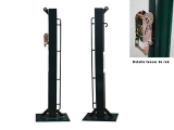 poste padel, postes padel fijos, postes padel con base para atorn