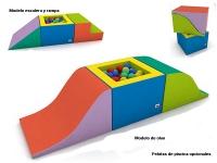 set de estimulacion bebe, piscina bolas bebe, set estimulacion