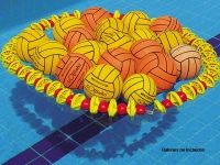 guarda balones waterpolo, guarda pelotas waterpolo