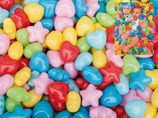 figuras llenado piscina bolas, figuras corazones estrellas llenado piscina bolas, bolas piscina bolas