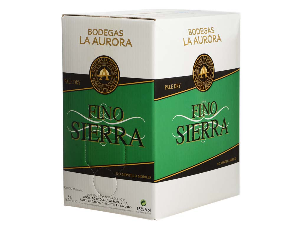 Bag in box vino blanco fino sierra