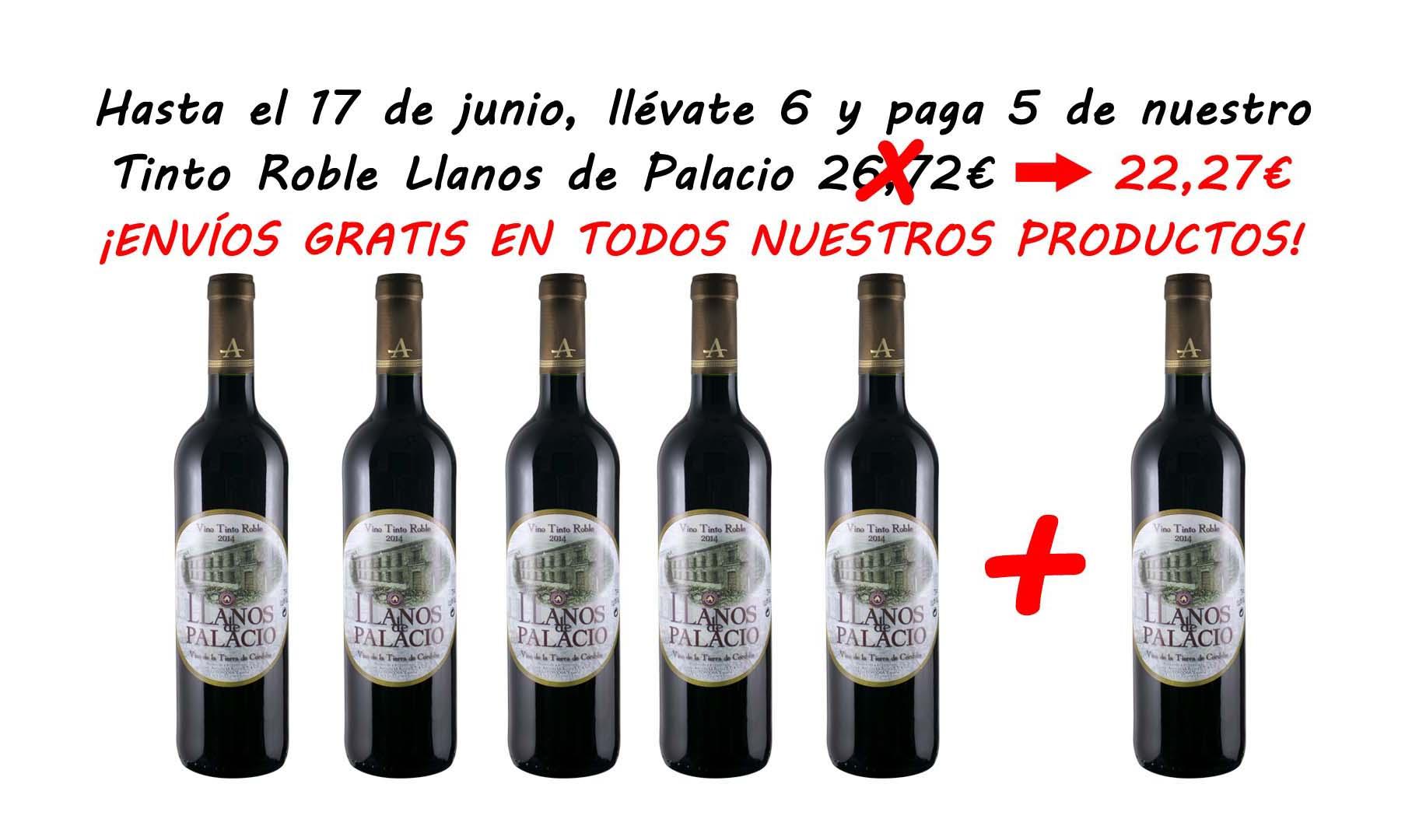 Tinto Roble Llanos de Palacio 6 x 5
