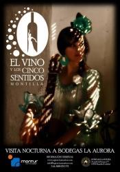 """Logo """"El vino y los cinco sentidos"""", visita nocturna a Bodegas La Aurora"""