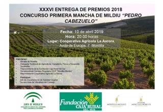 Entrega de Premios Concurso Primera Mancha de Mildiu 2018