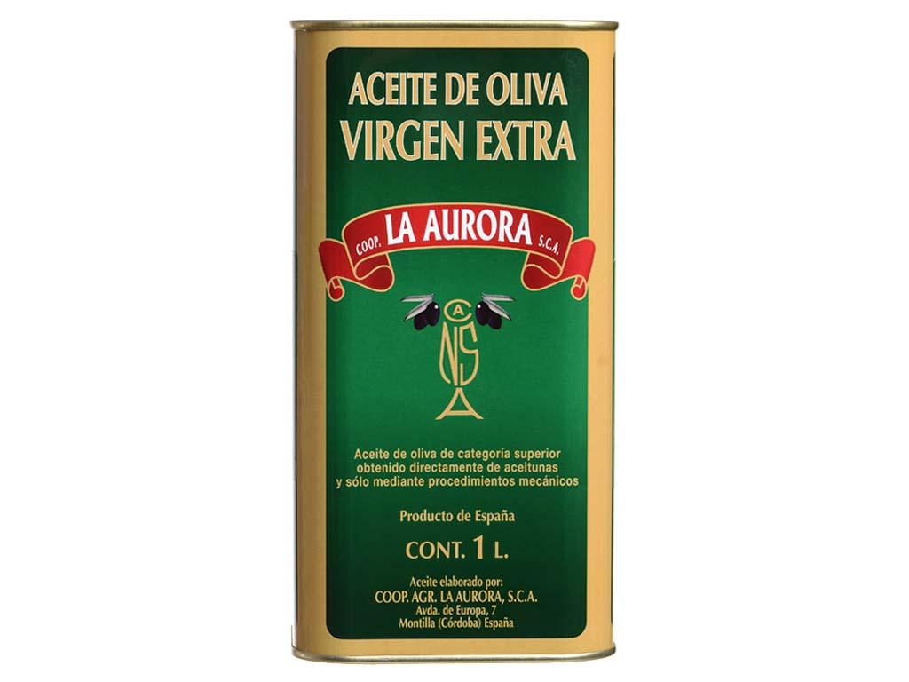 Aceite de Oliva Virgen Extra La Aurora Lata 1L (10 Latas)