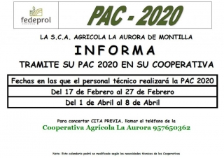 Tramitación de la PAC 2020