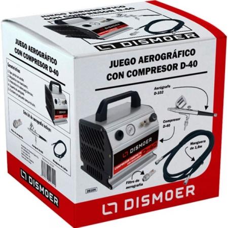 JUEGO AEROGRÁFICO COMPRESOR D-40