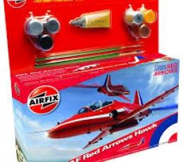 RAF RED ARROWS HAWK CON PINTURA