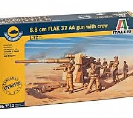 8.8 CM FLAK 37 AA GUN WITH CREW 1/72